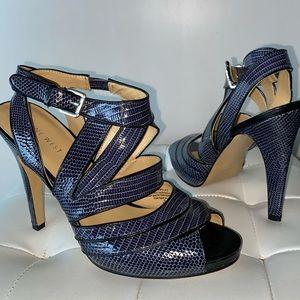 BRAND NEW SnakeSkin Sandal Heels Size 9
